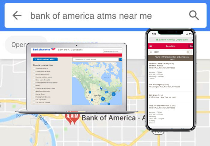 How to Find Bank of America ATMs near me